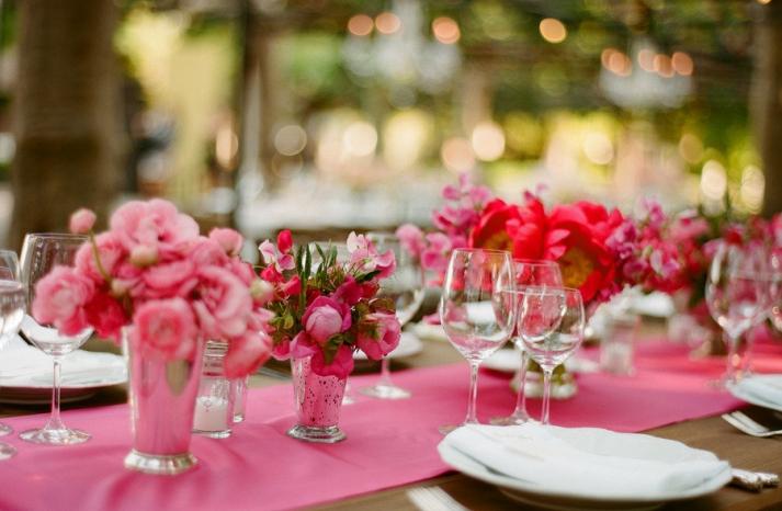 pink wedding reception decor wedding flower centerpieces