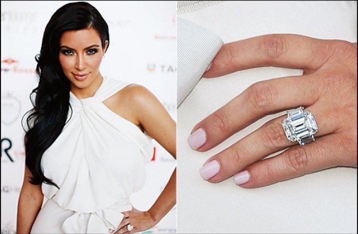 kim kardashian engagement ring celeb wedding jewelry