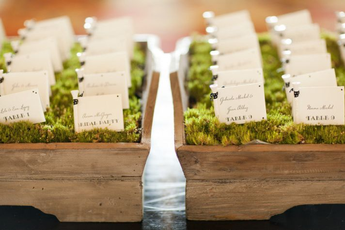 creative wedding reception ideas escort cards 3 Design by XOXO Bride