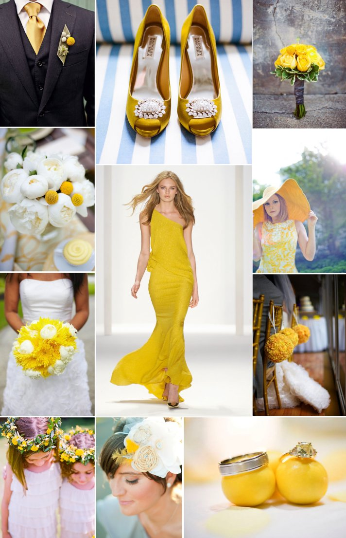Wedding color palettes for Spring and Summer- Lemon Yellow
