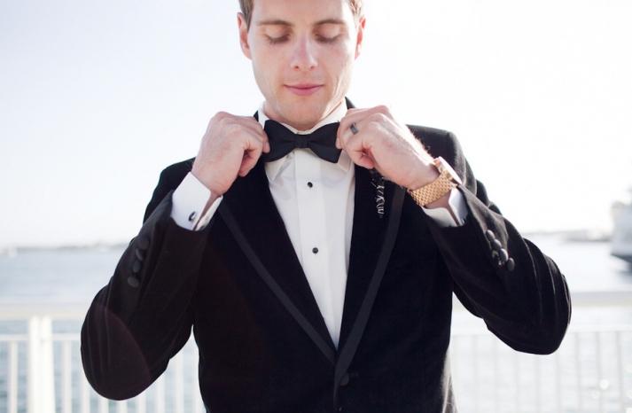 black tie groom real wedding photos