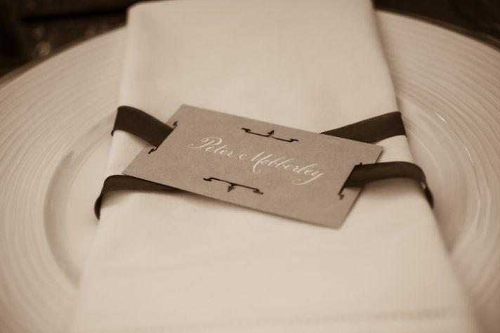 elegant wedding reception place setting