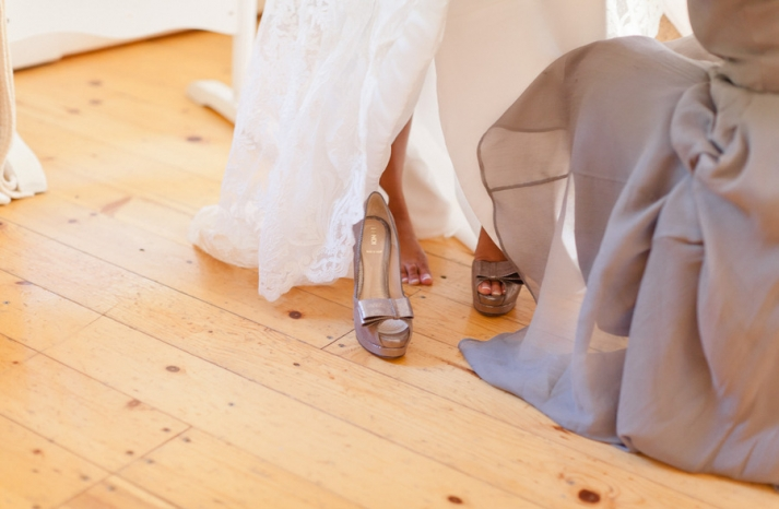 grey fendi wedding shoes