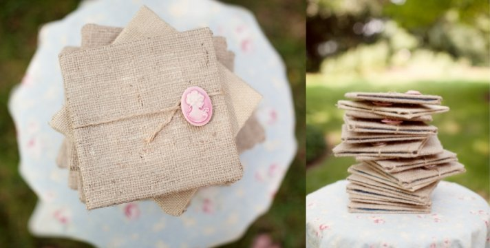 burlap wedding invitations for rustic weddings