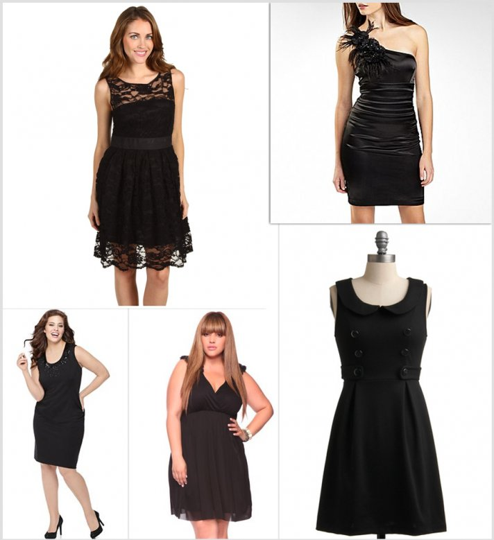 5 affordable lbd options for bridesmaids for Little black wedding dress