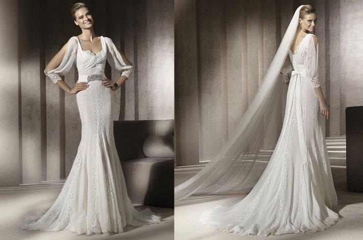 manuel mota wedding dress 2012 lace cape 1