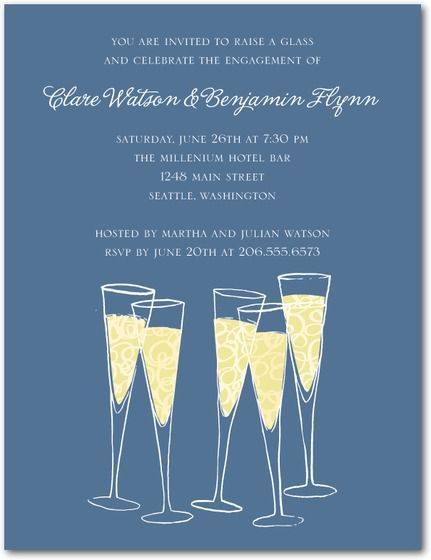 Bust Out The Bubbly ChampagneThemed Wedding Invitations Party – Champagne Party Invitations