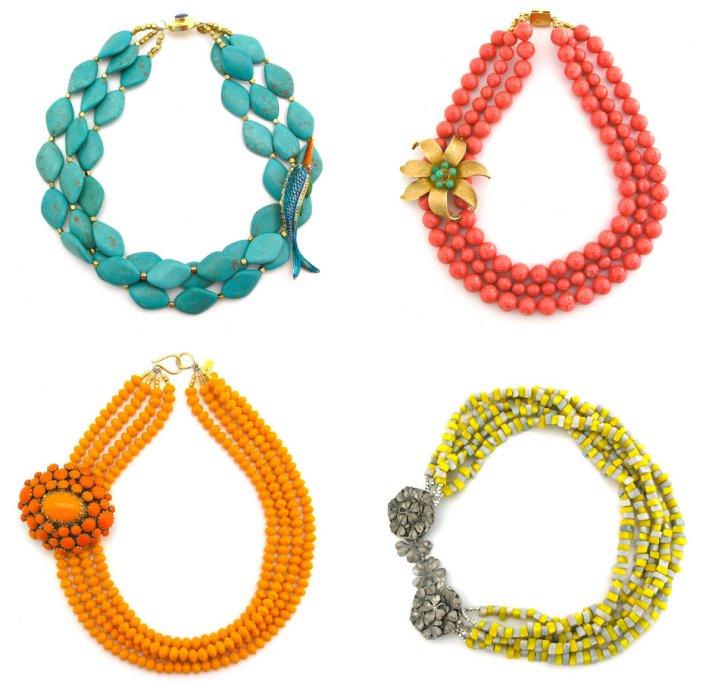 bright statement wedding necklaces spring summer wedding