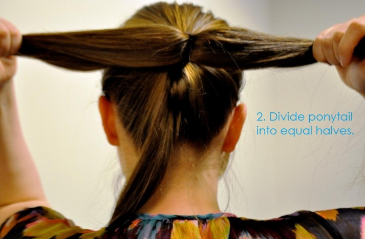 DIY wedding hair ideas bridal updo bow bun 3