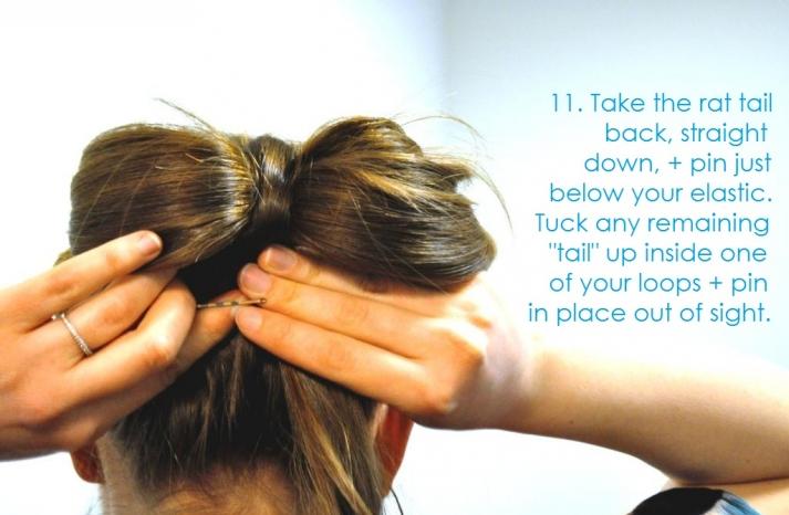 DIY wedding hair ideas bridal updo bow bun 13