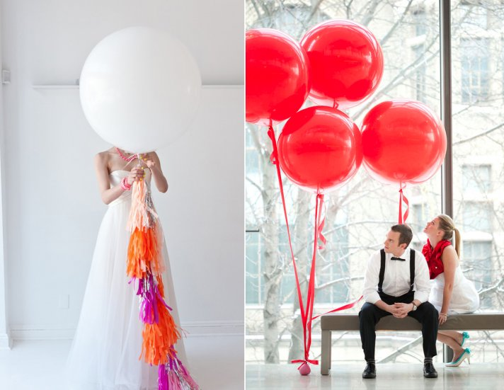 balloon wedding inspiration DIY wedding reception ideas
