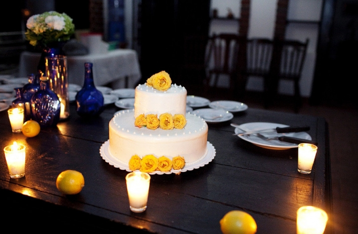 wedding color palettes bridal inspiration from real weddings cobalt blue lemon yellow wedding cake