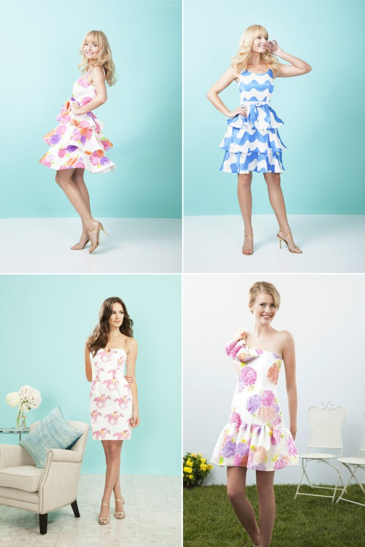 printed bridesmaids dresses for spring