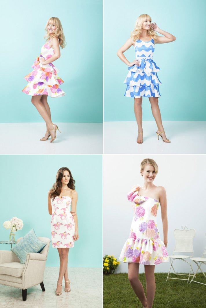printed bridesmaids dresses for spring