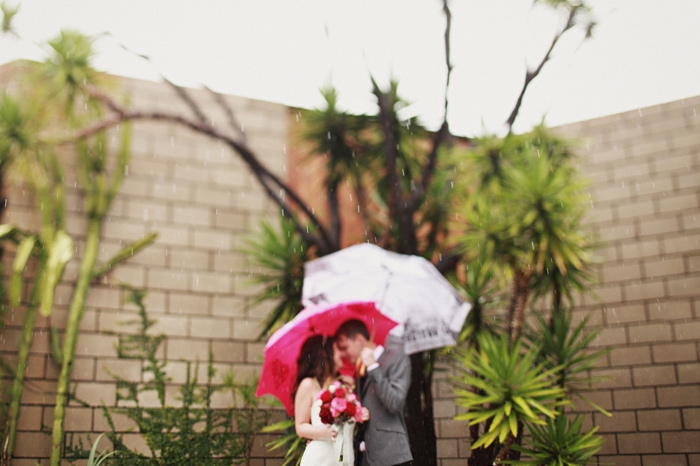 rainy real wedding