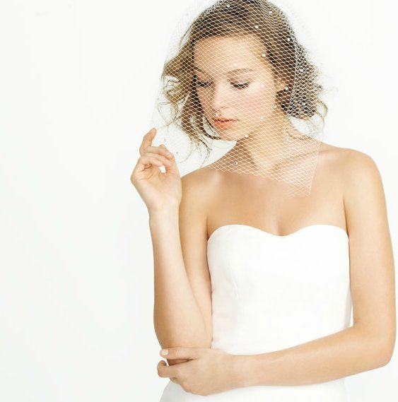 j crew 2012 wedding accessories bridal blusher
