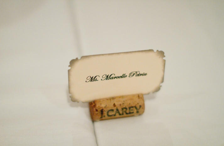 romantic winery wedding outdoor wedding venues escort card holders