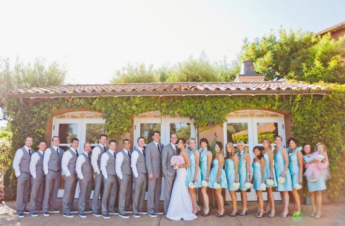 romantic winery wedding outdoor wedding venues outdoor wedding photo bridal party
