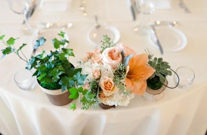 elegant spring wedding banquet hall wedding reception venue romantic centerpieces 2