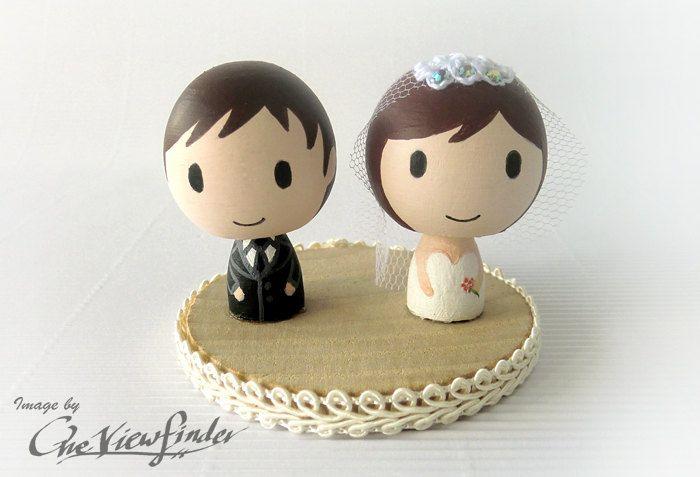 adorable wedding cake toppers handmade wedding Etsy 3