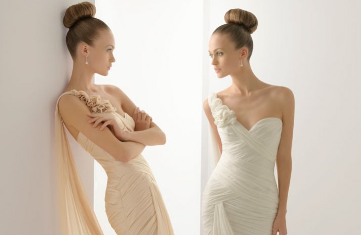 2012 wedding dresses soft by rosa clara bridal gown draped one shoulder