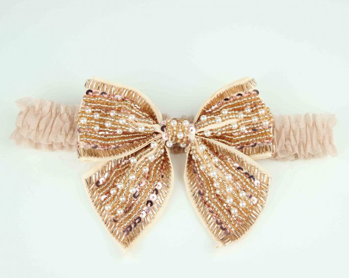 gold beaded bridal garter bows 2012 wedding trend