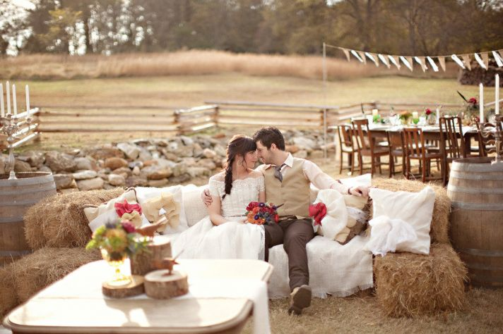 bride groom and wedding venue rustic real wedding