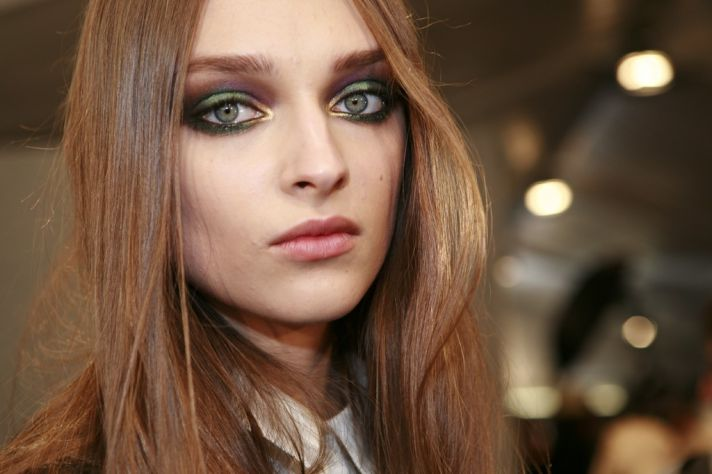 2012 bridal beauty trends peacock eyes bold bridal makeup