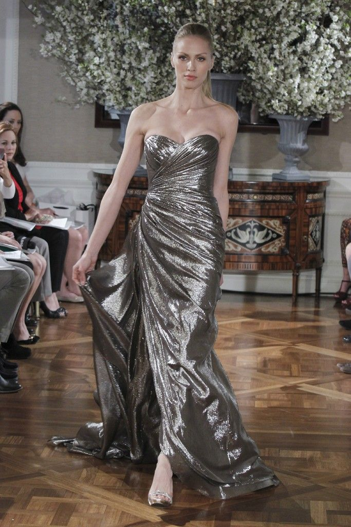 Spring 2013 wedding dress collections Romona Keveza bridal gown silver strapless
