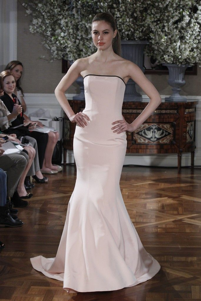Spring 2013 wedding dress collections Romona Keveza bridal gown peach