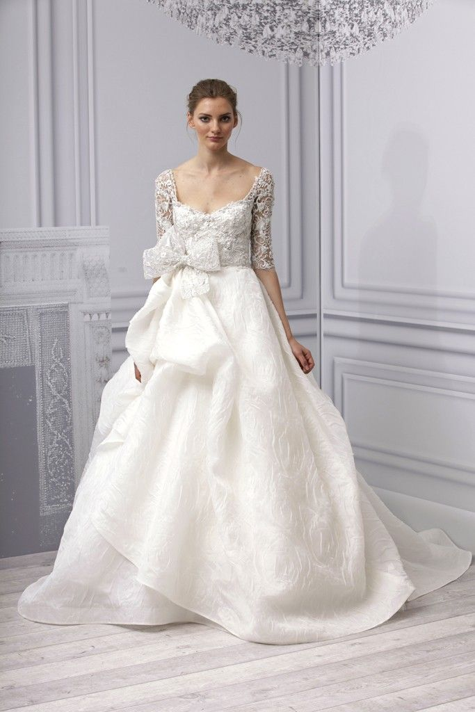 Spring 2013 wedding dress Monique Lhuillier bridal gown artistic ballgown