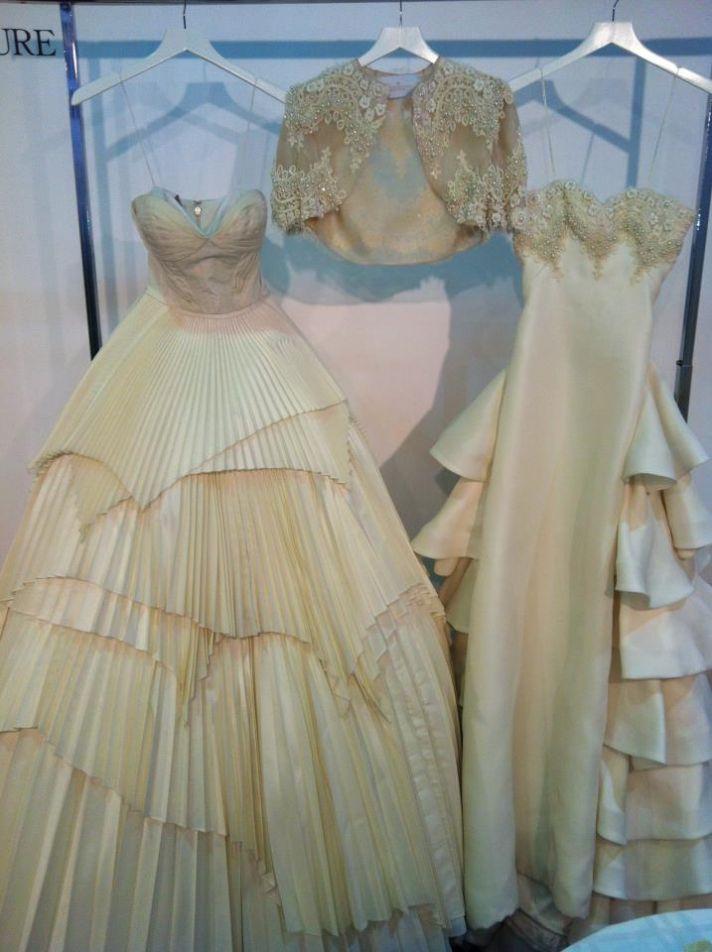 new bridal designer for 2013 ruffled mermaid wedding dress pleated a line
