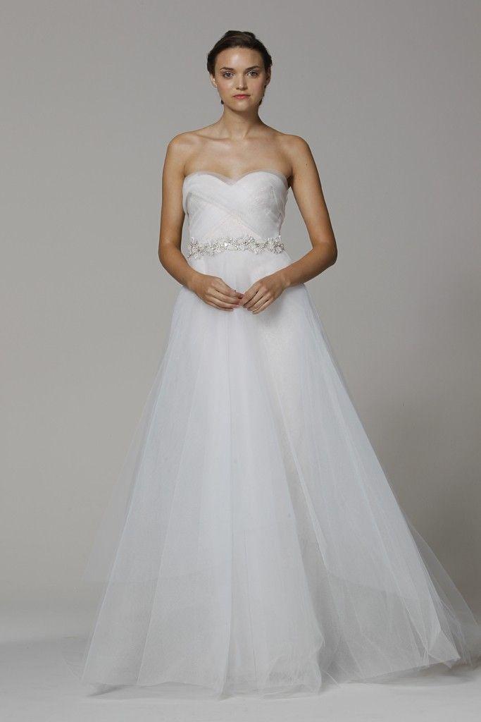 Marchesa wedding dress Spring 2013 bridal gowns a line with belt