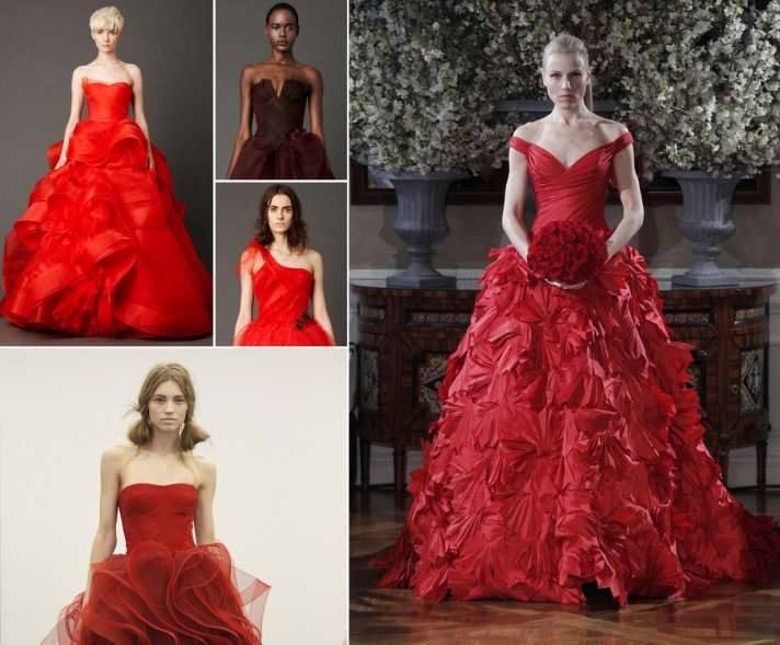 red wedding dresses spring 2013 bridal trends