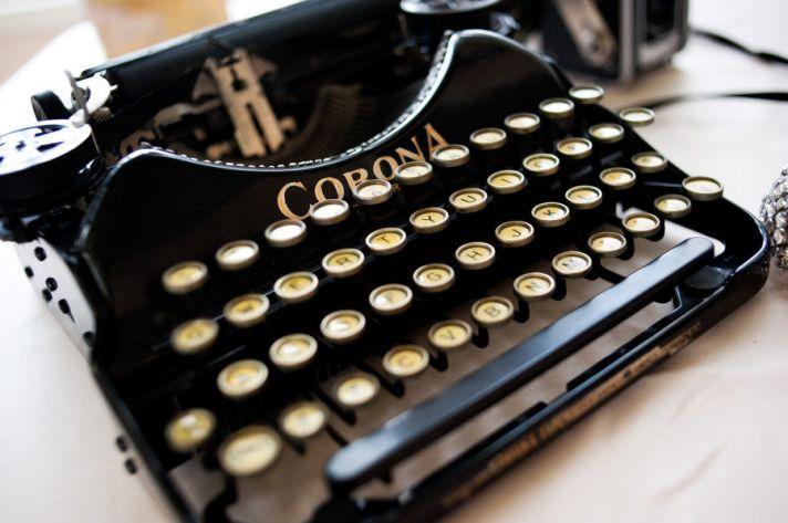 vintage typewriter for mad men wedding