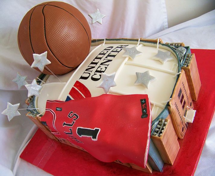 grooms wedding cake chicago bulls
