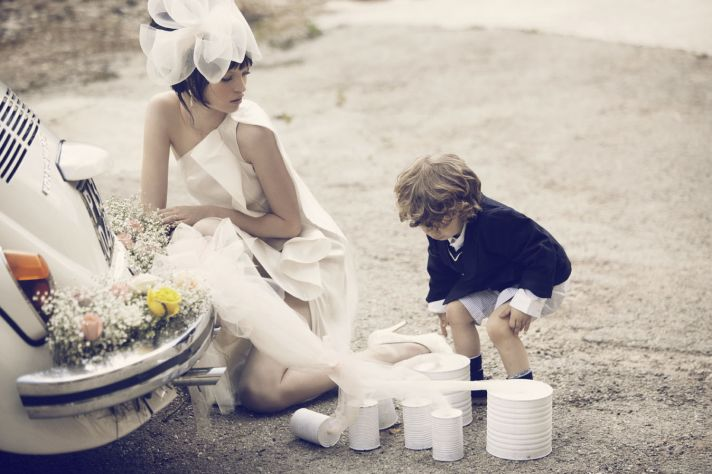 real wedding inspiration destination wedding ideas Sicily Italy haute couture bride with ring bearer