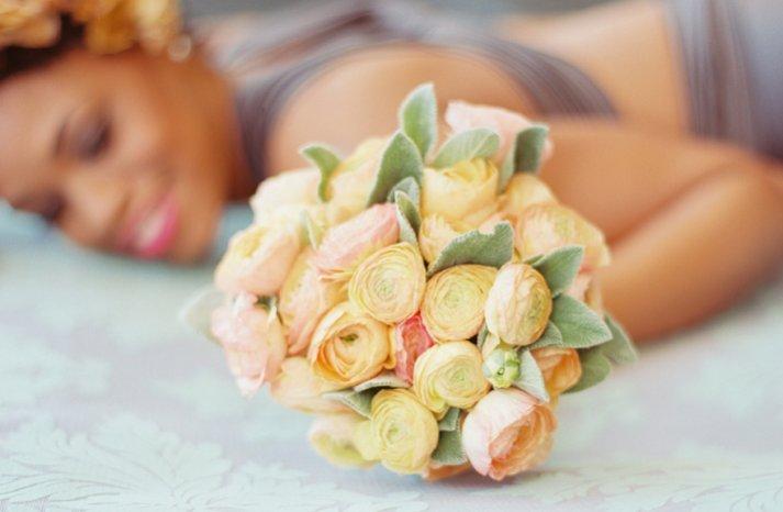 romantic bridal bouquet blush pink ivory anemone wedding flowers