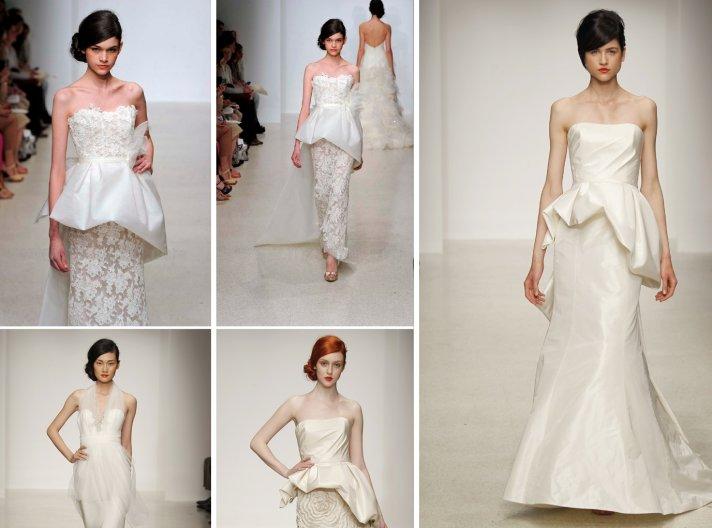 2013 wedding dress trends peplums Amsale