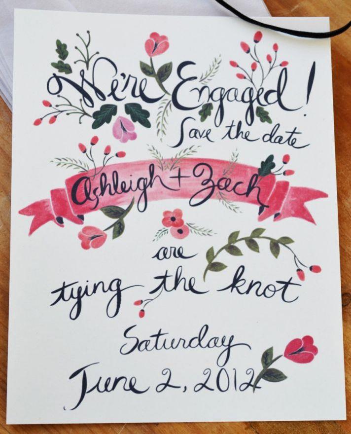 Custom Save The Date Postcards