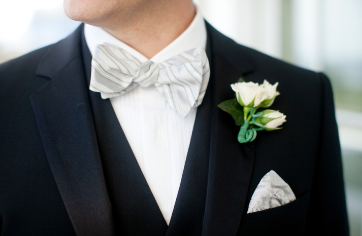 black white green wedding colors elegant black tie groom