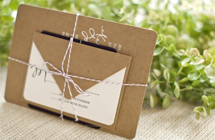 sage chocolate linen wedding save the dates customized with bride groom photo 3