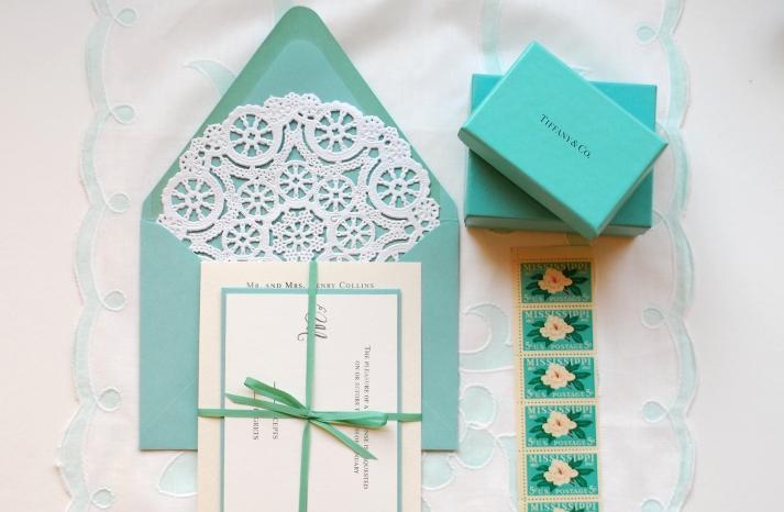 tiffany blue white lace wedding invitations