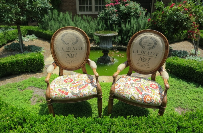 shabby chic wedding style reception seating burlap floral chairs
