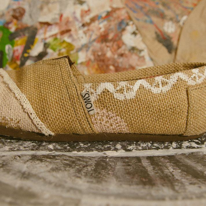eco friendly wedding shoes toms burlap