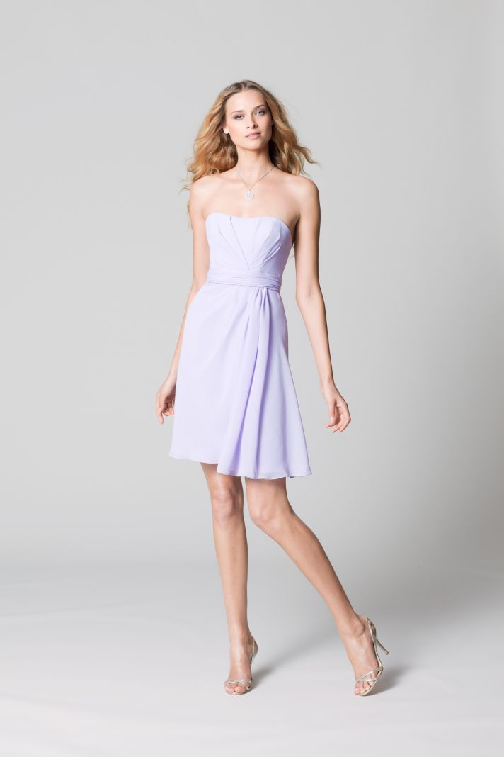affordable bridesmaids dresses Fall 2012 WTOO by Watters bridal party soft lilac