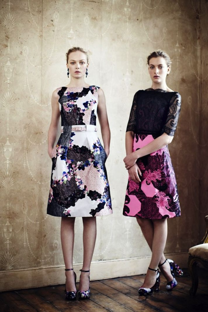 floral prints for bridesmaids Erdem Resort 2013 bridesmaid dress inspiration floral and lace