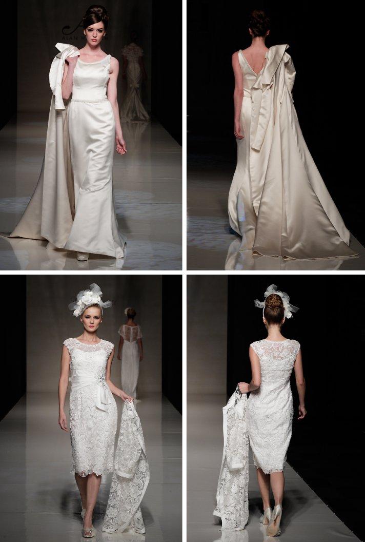 2013 wedding dress trends vintage inspired bride dress coat pairings