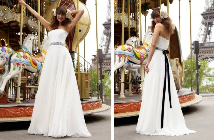 vintage inspired wedding dress stephanie allin romantic lace a line black bridal sash