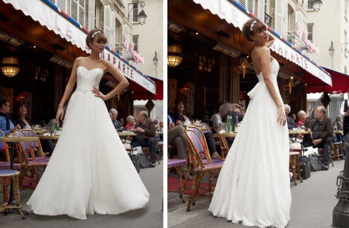 vintage inspired wedding dress stephanie allin sweetheart a line